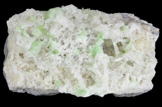 "Buy 4.2"" Green Augelite Crystals on Quartz - Peru - #173389"