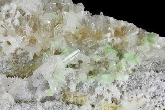 "3.6"" Green Augelite Crystals on Quartz - Peru For Sale, #173390"