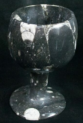 "4.5"" Fossil Orthoceras Goblet - Stoneware"