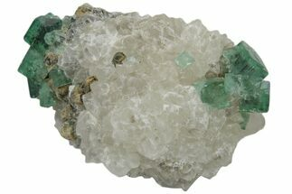 "2.1"" Fluorescent Green Rogerley Fluorite On Quartz For Sale, #173990"
