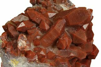 "4.5"" Sparkly, Red Quartz Crystal Cluster - Morocco For Sale, #173915"