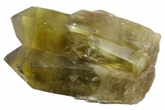 "3.5"" Smoky, Yellow Quartz Crystal Cluster (Heat Treated) - Madagascar For Sale, #174647"