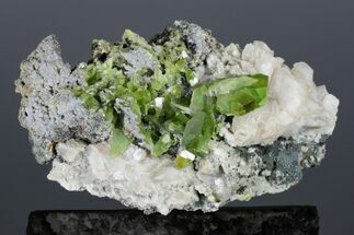 "Buy 4.4"" Green Titanite (Sphene), Calcite, and Muscovite - Pakistan - #175084"