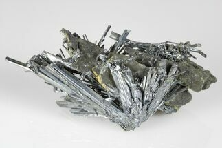 "Buy 2.9"" Lustrous, Metallic Stibnite Crystal Spray On Matrix - China - #175840"
