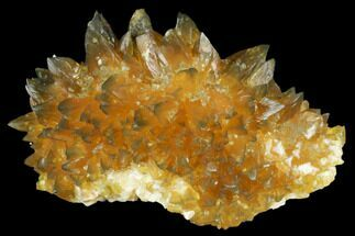 "3.5"" Highly Fluorescent, Amber Calcite Crystal Cluster - Norway For Sale, #177296"