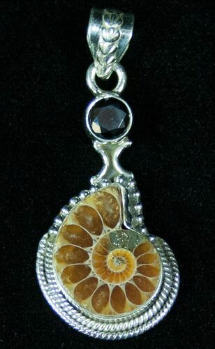 Fossil Ammonite Pendant - Sterling Silver