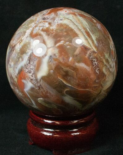 "2.7"" Colorful Petrified Wood Sphere"