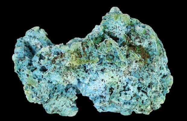 Congo Shattuckite and Malachite specimen
